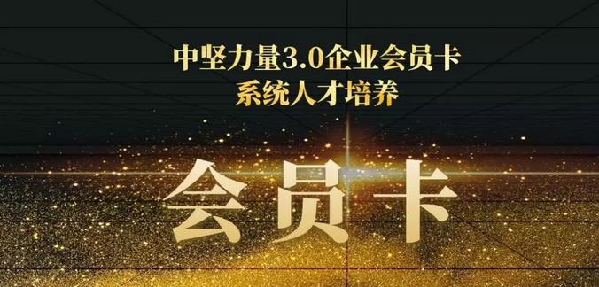 中坚力量3.0会员卡:中国中小型企业系统人才培养